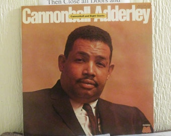 Cannon Ball Adderley Quintet vinyl record - Original - Cannonball and eight giants vinyl - Rare French Import - Vintage Record Nm Condition