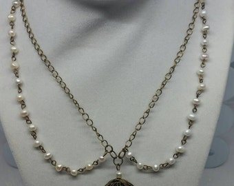 Pearl Birdcage Necklace