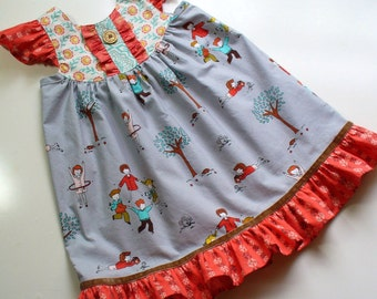 Girls Dress,Toddler Dress,Girls Fall Dress,Little Girl Dress,Girls Holiday Dress,Flutter Dress,Special Occasion,Size 18MO,,2T,3T,4T,5T,6