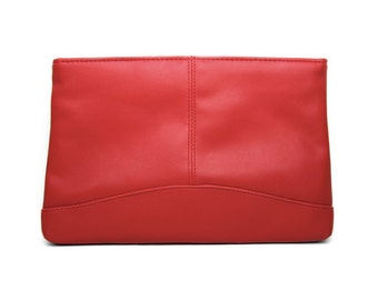 BRIDGET: Red, Retro Clutch