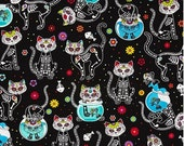 Custom Calavera Cat Apron No Pocket Black Lining