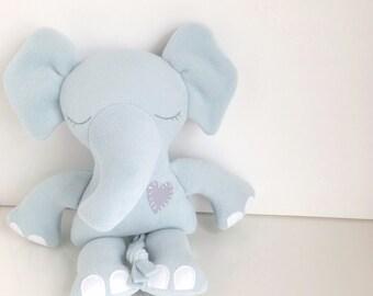 Elephant  - Stuffed Toy - Plush Toy - Ragdoll - Baby & Toddler Stuffed Toy - Kids Stuffed Toy - Plushie - Beach Glass - Grey