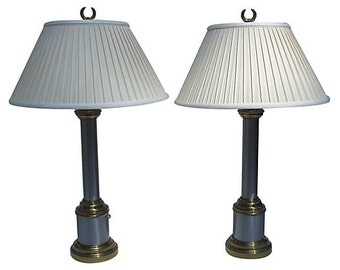 Paul Hanson Column Lamps - A Pair