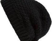 Black Textured Beanie Hat for Beanie Lion