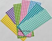 1/4 Inch 150 Polka Dots - Vinyl Decals - Christmas- Sticker Sheet -  Polka Dots - Stemware Gasses - Bridal Party