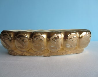 Vintage Weeping Gold Vase - Swetye Pottery
