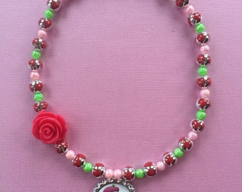 Strawberry Shortcake Stretch Necklace