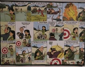 "Disney Princess Mulan 12"" x 9"" Comic Collage Canvas"