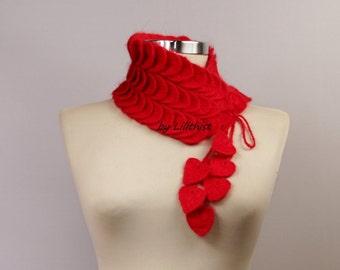 Crochet Infinity Scarf, Crochet Scarf, Crochet Cowl, Collar Bib, Choker Scarf Black / Turquoise Blue/ Pink / White Women Winter Gift For Her