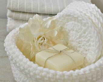 Crochet Bowl and Face Scrubbies