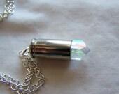 Angel Aura Danburite Crystal Gemstone Bullet Jewelry Pendant