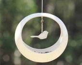 Birdie Bird Feeder, Bird Feeder in Vanilla, Bird Feeder