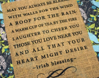 Irish Blessing - Burlap Print