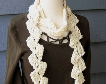 PATTERN S-043 / Crochet Pattern / Mary Jane Scarf ... chunky 65 yards