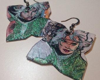 Glitter Rogue X-Men earringa - Dangerous Beauty - comic book earrings