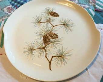 Vintage Pine Cone Dinner Plate GEO51 W S George Made in The USA #3961