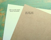 "50 chipboard sheets: 8.5 x 11"" (216 x 279 mm) white or kraft brown chipboard, recycled, 22 pt (.022"") or 30 pt (.030"")"