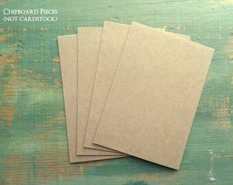 "50 A1 Thick  50 pt Chipboard Pieces: Kraft Brown Recycled Choose A1 size (89x124mm), 3.5x5"", or 3x5"", Rigid Heavyweight 50pt (.050"")"