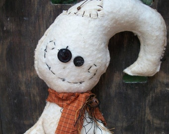 Primitive Halloween Friendly Ghost Sitter Doll