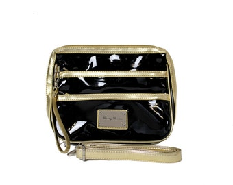 Cherry Blooms - The Glamour Toiletry Bag/Case with Zips and Strap