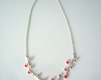 Orange branches necklace