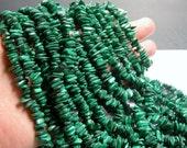Malachite Gemstone - chip stone - full strand - 16 inch Genuine Malachite - PSC278