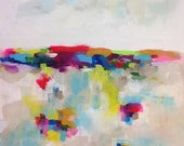 Large Colorful Abstract Landscape -Horizon Brights 36 x 48