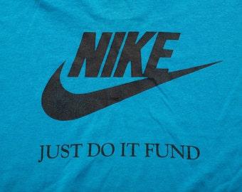Nike Forum T-Shirt, Just Do It Fund, Thomas Jefferson, Vintage 80s-90s