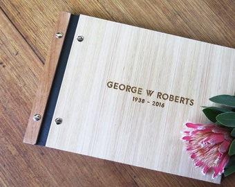 Memorial Guest Book. Signing Book. Funeral. Wake. Celebration of Life