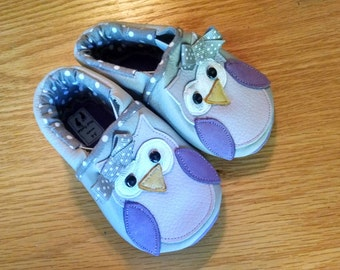 Owl baby girl shoes size 3-6 months