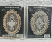 Two Needle Magic Lace Net Darning Craft Kits 6.5 inch Oval 2904 & 2905 Cameo Jubilee