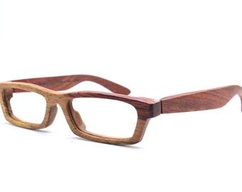 Only one TAKEMOTO Love-Wood two tone rosewood   handmade prescription sunglasses eyeglasses