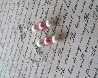 Springtime Glass Pearl Drop Earrings