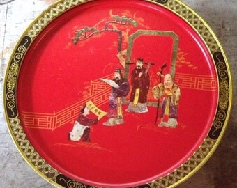 Vintage Tang Dynasty Sunshine Biscuits Tin