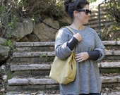 mustard boxed purse. small bag. mustard shoulder bag. vegan bag. one of a kind bag.