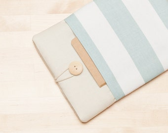 kindle case / Kobo aura HD case / Kindle paperwhite sleeve / kindle fire HD 6 sleeve / kobo glo case - Cream stripes