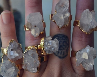 50% OFF ROCK CANDY /// Crystal Quartz Cluster Ring