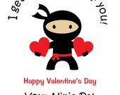 Ninja Valentine Cards -- Ninja Valentine Ninja Valentines