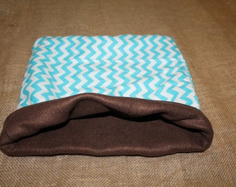 LARGE  Blue Chevron pouch for small pets