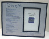 Father Daughter Dance Song with Lyrics Navy and White Stiched Trim and Gray Background