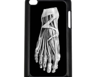 Foot Layers X-ray Apple iPod Touch 4g Hard Case Anatomy Pencil Sketch Art Choose Case Color