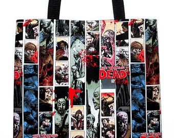The Walking Dead Zombies Large Carryall Tote Book Bag