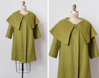 vintage 1960s coat / 60s swing coat / Lilli Diamond coat / Aguacate coat
