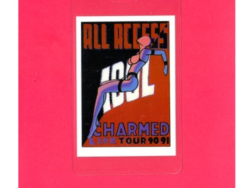 Free Shipping!, 1990/91, BILLY IDOL, Charmed Life Tour, All Access Pass, Rocker, Original, Authentic, Unused
