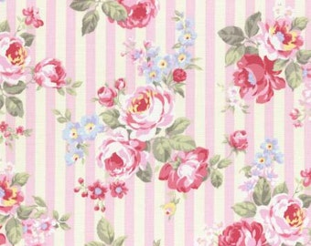 Large floral wallstripe in pink from the Princess Rose fall 2015 collection by Lecien 31264L-20