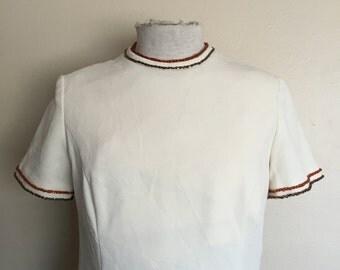 1960's cream vintage dress