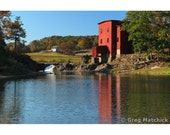 "Fine Art Color Photography of Old Red Mill in the Missouri Ozarks - ""Dillard Mill"""