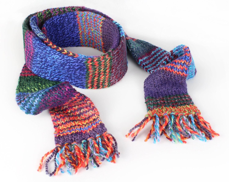 kaleidoscope eco scarf colourful funky stripy eco