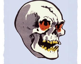 Famous Monsters Topstone Skull Mask Poster