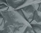 Silk Dupioni Fabric - slate grey 100% pure silk - fat quarter - sld166